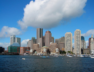 Boston Financial District skyline 320